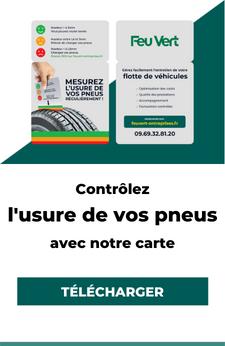Carte d'usure des pneumatiques